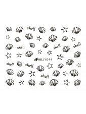 Наклейки для ногтей (Стикеры) Nail Art Stickers № 044 Black, Kodi